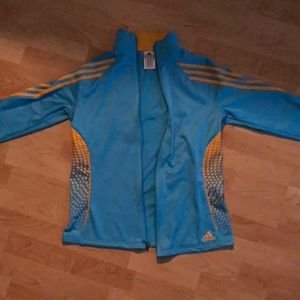 Super cute adidas blue and yellow zip up!